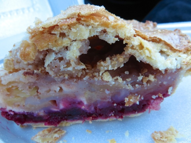 Could you resist a slice of this apple-cranberry pie at the Rustic Artisan?