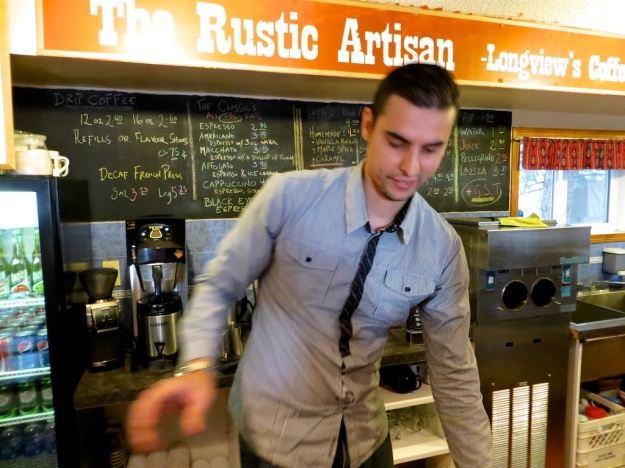 Mounir Berrah and his wife run the lovely Rustic Artisan coffeehouse in Longview, Alberta