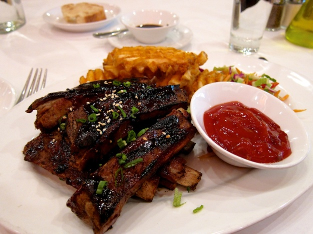 Ribs and waffle fries add up to an outstanding, affordable lunch at Seasons of Durango in Durango, Colorado