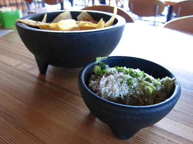 Great happy hour guac and chips at Gallo Blanco Cafe & Bar in Phoenix