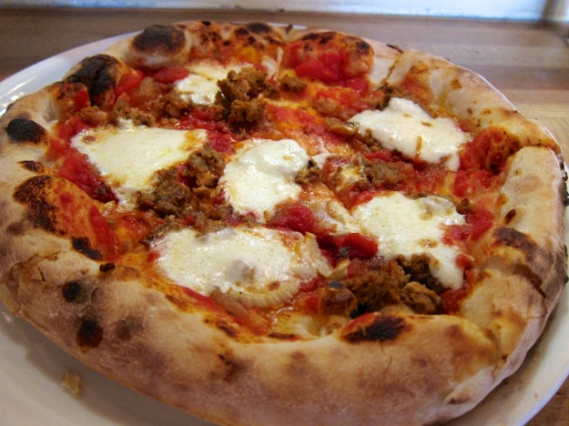 Simple, house-made ingredients make this sausage and fennel pie a standout at Pizzeria Seven Twelve in Orem, Utah