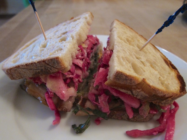 The porchetta sandwich on sourdough is sublime at Dot's Delicatessen