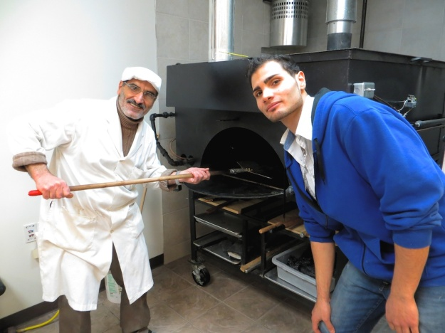 Kassem Fedda (left) and sone Hassen own the delightful Pita Hut Bakery in Leduc, Alberta