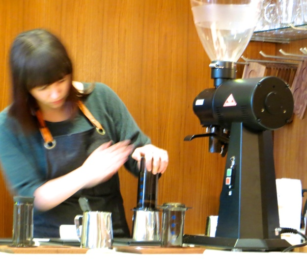 The Aeropress is the brew method of choice at Phil & Sebastian's new Calgary coffeehouse