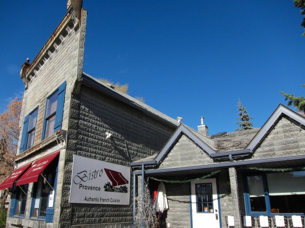 Bistro Provence, with its 1880s' pressed-tin siding, has perhaps the best historic location of any Alberta restaurant