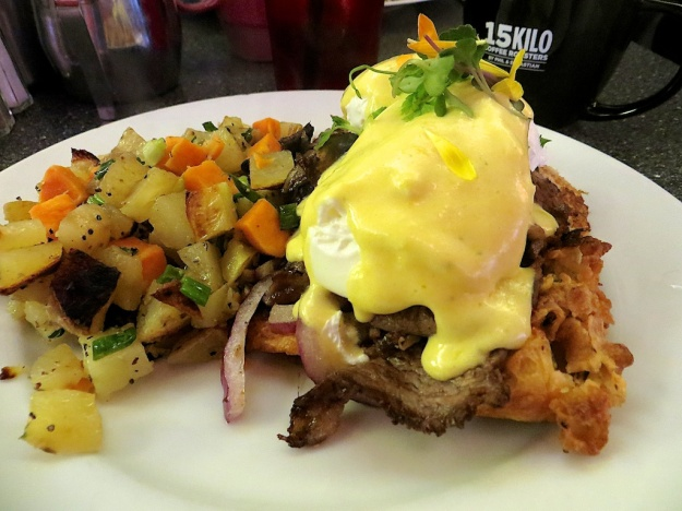Prime rib eggs benedict on Yorkshire pudding, anyone?