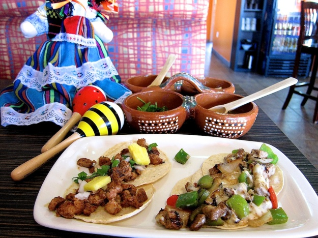 My pork and beef-rib tacos at Las Maracas focus squarely on the slow-cooked meats