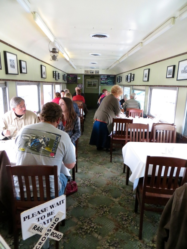 The Whistle Stop Cafe serves breakfast and lunch in this old rail car