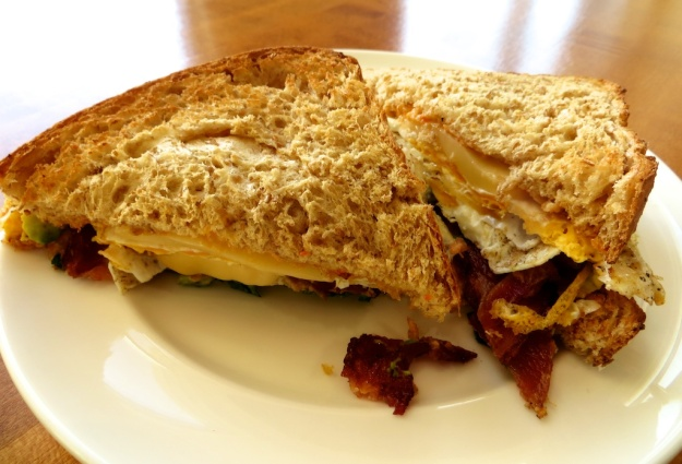 A marvellous, monster breakfast sandwich for only $4.95