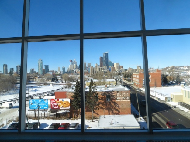 Great views of downtown Calgary from the stunning Esker Foundation art gallery