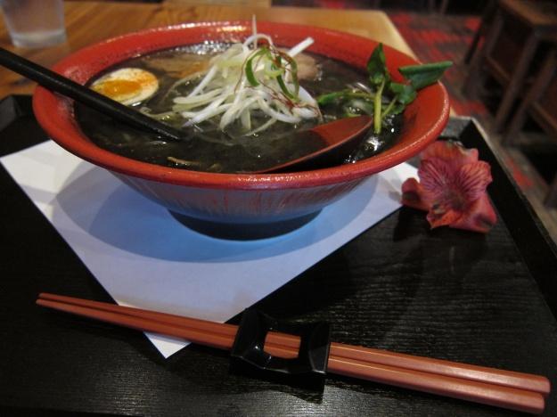 Fabulous charcoal miso ramen at Motomachi Shokudo