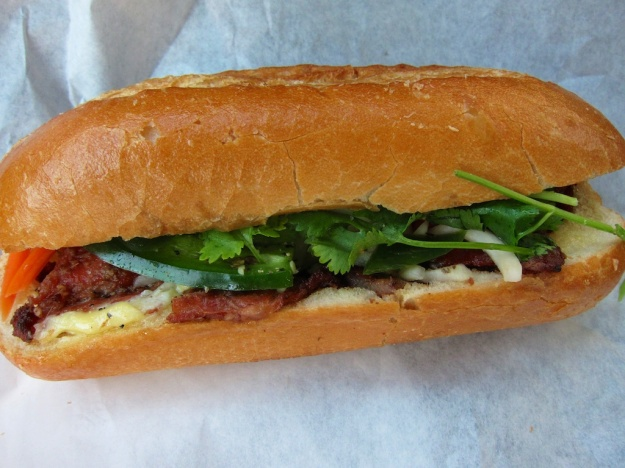 Can you believe it? A foot-long, yummy Vietnamese sub, near downtown Seattle, for only $3