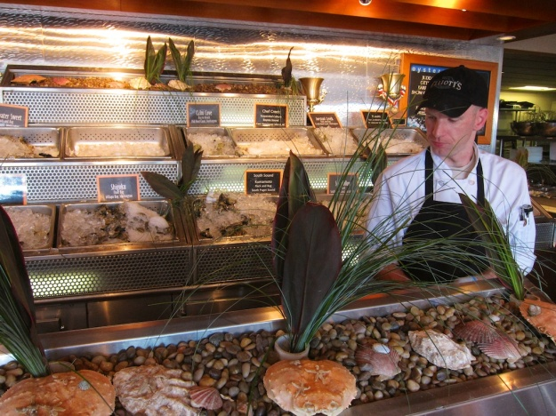 Elliott's Oyster House is a great place to sample fresh oysters, especially during oyster happy hour
