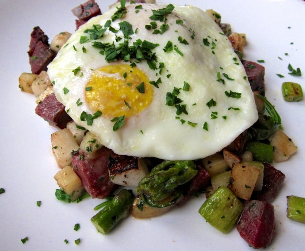 Heavenly pork cheeks hash at happy-hour price at Seattle's Tolouse Petit