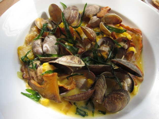 An elegant dish of succulent clams at Little Bird