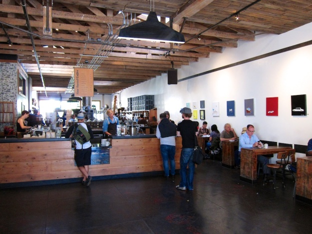 Like many San Francisco cafes, Four Barrel has the aesthetic nailed