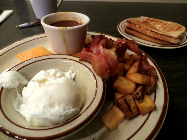 The $1.99 breakfast special at the Grey Eagle Casino may be the best bang for your buck in town