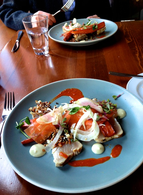 Don't you want to just run down to Calgary's River Cafe and dive into this divine tuna dish?