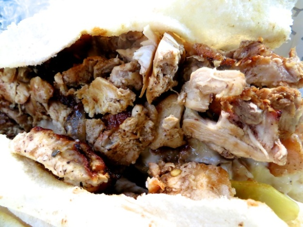 This shawarma's stuffed with spit-roasted chicken