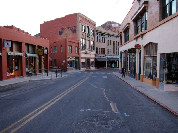 It may have been gussied up for tourists, but downtown Bisbee, Arizona retains the character of its mining past