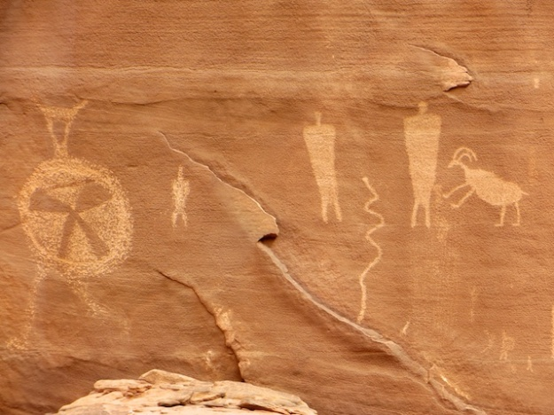 Plenty of ancient petroglyphs along the way