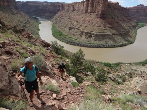 Hiking high above the Green River