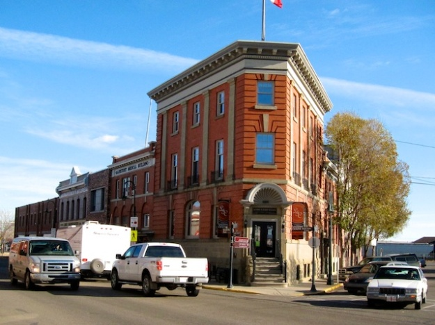 The historic downtown (the main street here in Lacombe, Alberta) is where the heart of these communities resides