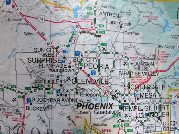 Good luck trying to navigate with this map around Phoenix's suburbs