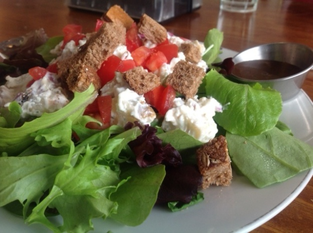 Red Hot Roasters offers fine salads to go with its fresh-roasted coffee
