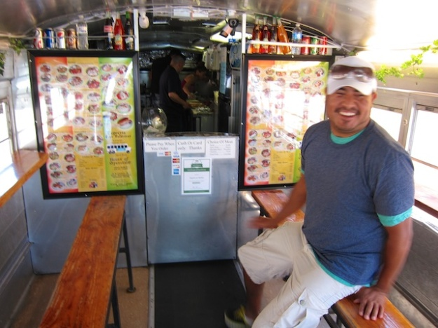 Waiting for Mexican truck-food goodness at Taqueria Las Palmitas in West Yellowstone, Montana