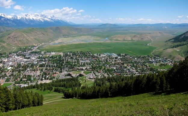 There's a few billion dollars worth of properties in this view of Jackson Hole, Wyoming