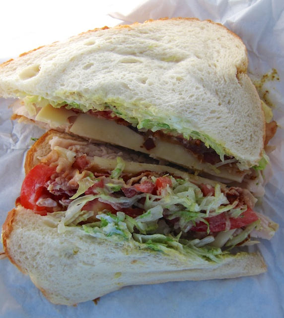 Just half my Creekside Market turkey club sandwich is enough to propel me up a steep hike