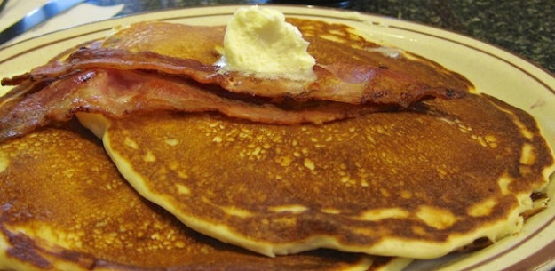 Mmm, pancakes. You can eat them every morning for free at Calgary Stampede breakfasts throughout the city