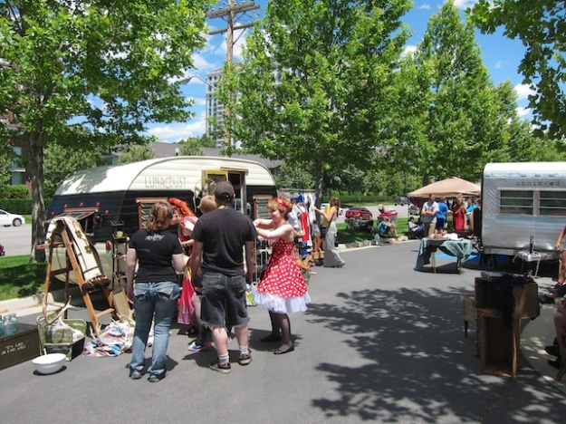 This colourful flea market in downtown Salt Lake City coincided with the weekend pride festival