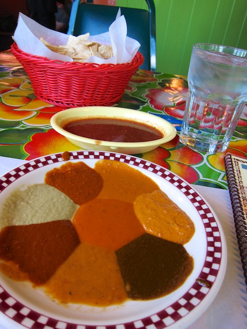 Can't decide which mole sauce to order at Red Iguana? No problem. They'll bring you samplers of each to try