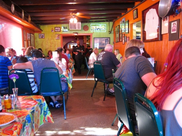 The excellent food is just half the show at colourful Red Iguana