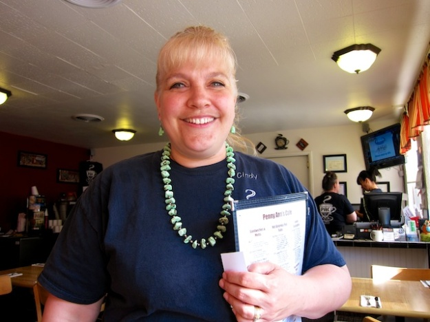 Lovely Cindy is just one of half a dozen family members who run Penny Ann's Cafe