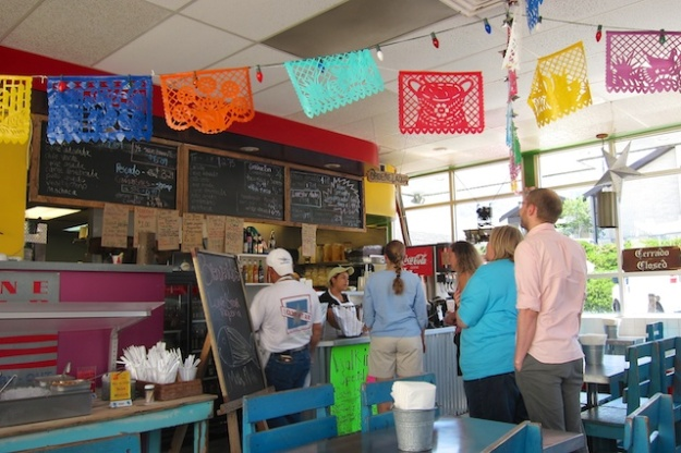 A pre-noon line is starting to form at Lone Star Taqueria, but I've already eaten