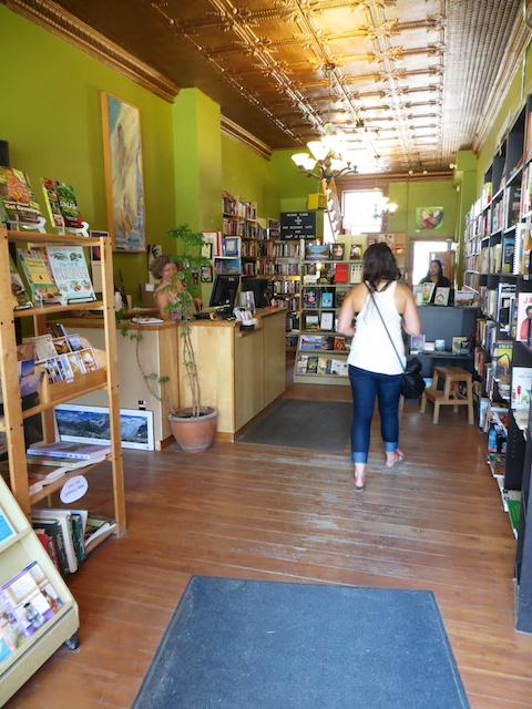 There are fine books as well as food at Bacchus