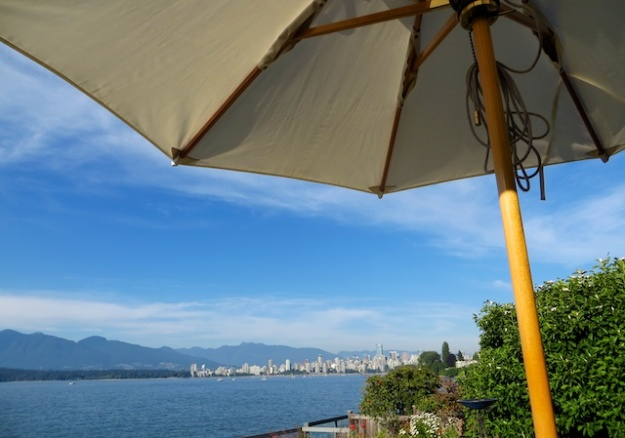 Overlooking English Bay in Vancouver