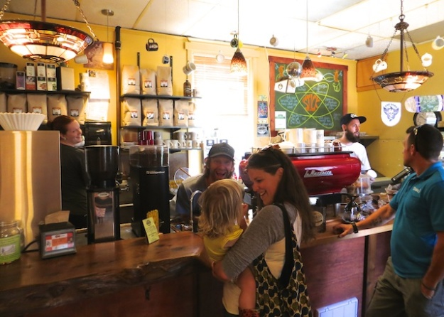 At Stick in the Mud coffee-house, in Sooke on Vancouver Island, these friendly, caffeinated guys are anything but that