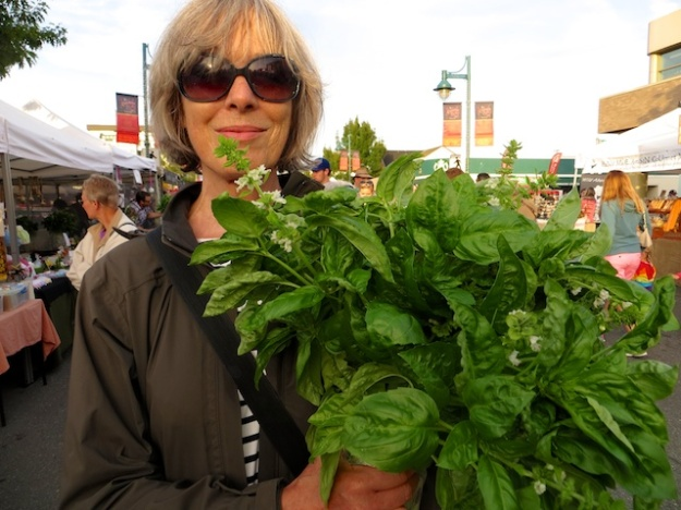 How about a bouquet of basil from the weekly market in Sidney, B.C.