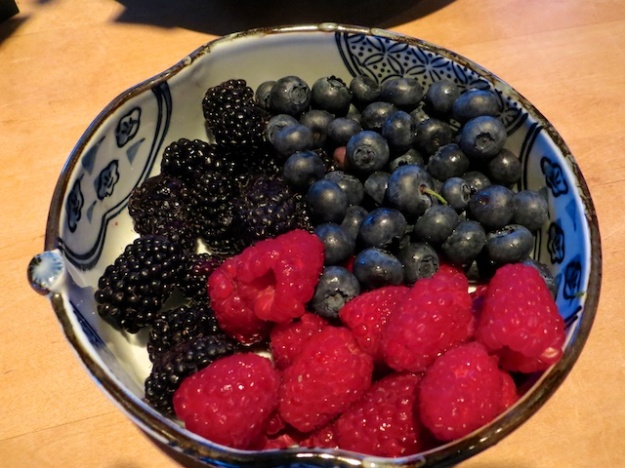 Finished by some fresh berries.