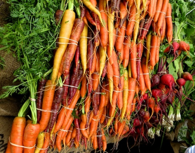 Super-sweet carrots at the weekly market in Ganges on Salt Spring Island in B.C.
