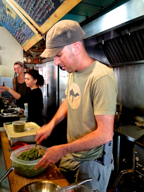 Ilan Goldenblatt makes his fantastic falafels to order at  The Thirsty Camel in Nanaimo, B.C.