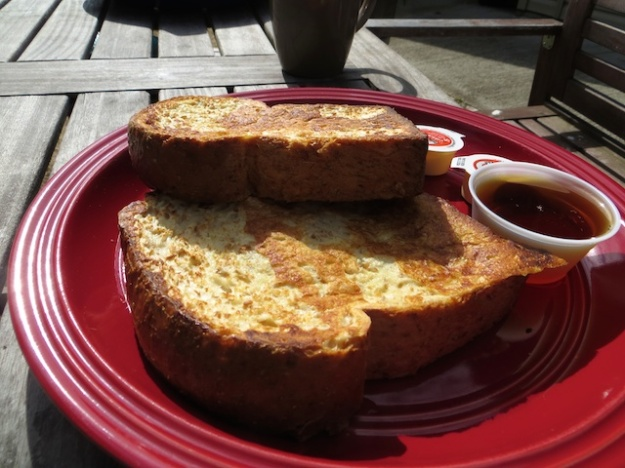 Whole-wheat French toast at Fernwood Road Cafe