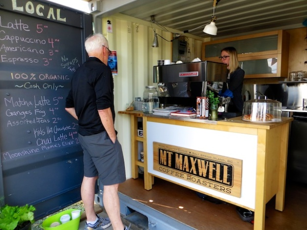 Mt Maxwell Coffee is served at this little Ganges shack
