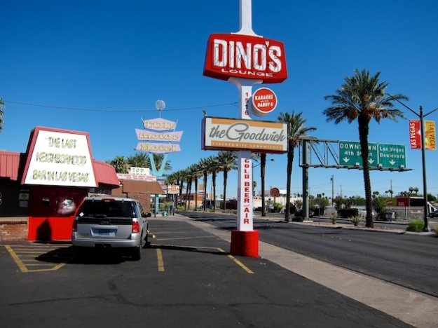 The colourful Las Vegas downtown area is home to Goodwich and Viva Las Arepas