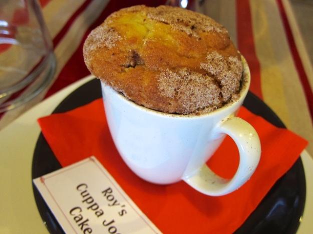 Talk about cute: Coffeecake served inside a mug at Chocolate Moose Royale in Ashton, Idaho