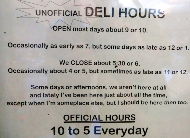 Actually, Patricia Street Deli keeps pretty simple hours... at least I think they do
